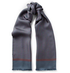 Gucci Double-Layer Silk-Twill Scarf