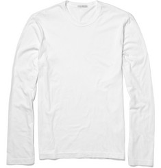 James Perse - Long-Sleeved Cotton-Jersey T-Shirt