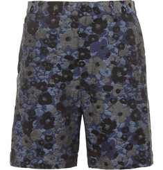 Sacai Cotton And Linen-Blend Jacquard Shorts