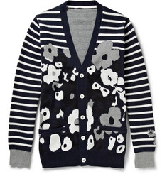 Sacai Patterned Cotton Cardigan