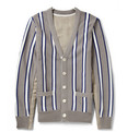 Sacai - Grosgrain Stripe-Trimmed Cotton-Blend Cardigan