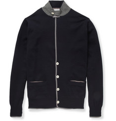 Sacai Knitted-Cotton Cardigan