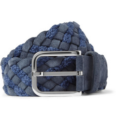 Loro Piana Woven Suede and Cotton Belt