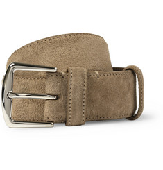 Loro Piana Brown 3.5cm Suede Belt