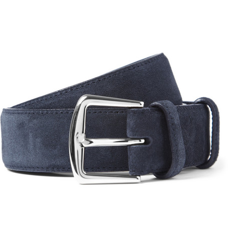 Loro Piana Blue 3.5cm Suede Belt