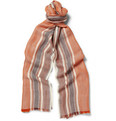 Loro Piana Striped Cashmere and Silk-Blend Scarf