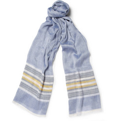 Loro Piana Silk, Cotton and Linen-Blend Scarf