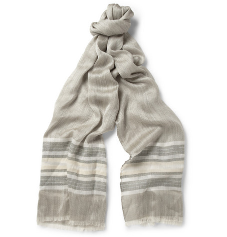 Loro Piana Silk and Cotton-Blend Lightweight Scarf