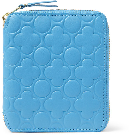 Comme des Garçons Zip-Around Embossed-Leather Wallet
