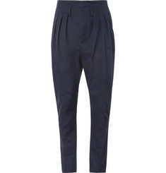 Balmain Pleated Cotton Trousers