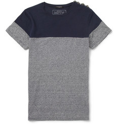 Balmain Linen and Cotton-Blend Breton T-Shirt
