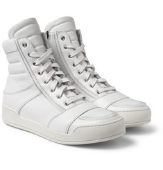 Balmain - Leather High Top Sneakers