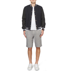 Maison Kitsuné Paisley-Embroidered Cotton-Canvas Bomber Jacket