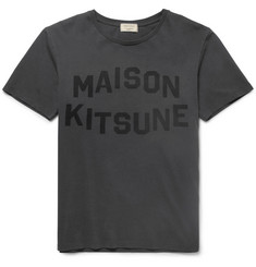 Maison Kitsuné Printed Washed Cotton-Jersey T-Shirt