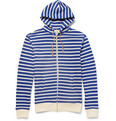 Maison Kitsuné - Striped Loopback Cotton-Jersey Hoodie