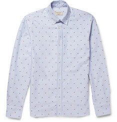 Maison Kitsuné Slim-Fit Embroidered Oxford Cotton Shirt