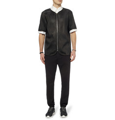 Alexander Wang Short-Sleeved Perforated-Leather Jacket