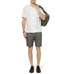 Alexander Wang Buttoned Jersey and Poplin Cotton T-Shirt