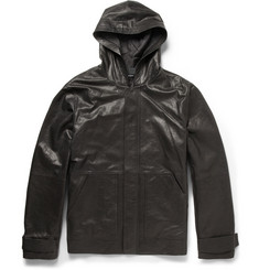 Alexander Wang Washed-Leather Hooded Jacket