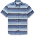 Rag & bone - Striped Cotton and Linen-Blend Shirt