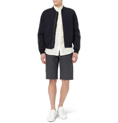 Rag & bone Shibuya Panelled Textured-Cotton Bomber Jacket