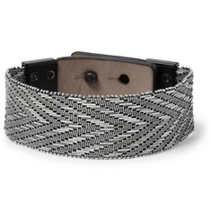 Lanvin Metal Mesh and Leather Bracelet