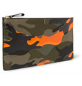 Valentino Camouflage-Print Leather and Canvas Pouch