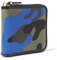 Valentino Camouflage-Print Leather and Canvas Zip Wallet