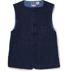Blue Blue Japan Sashiko Textured-Cotton Waistcoat