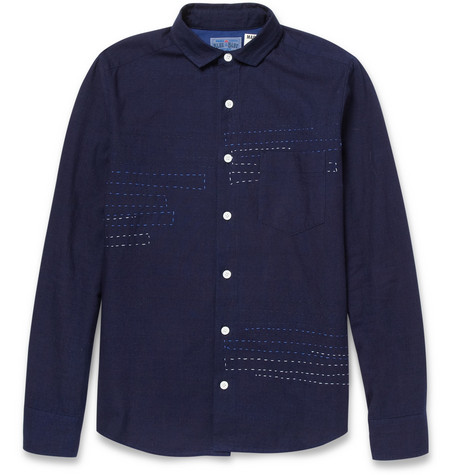 Blue Blue Japan Sashiko Cotton Shirt