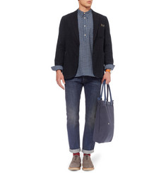 Blue Blue Japan Unstructured Cotton-Lace Blazer