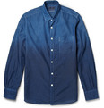 Blue Blue Japan New Moon Gradated-Indigo Cotton Shirt