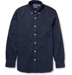 Blue Blue Japan Button-Down Collar Cotton and Linen-Blend Shirt