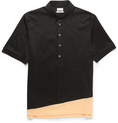Paul Smith Contrast-Panel Cotton-Jersey Polo Shirt