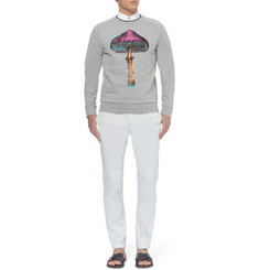 Paul Smith Printed Double-Collar Cotton-Jersey Sweatshirt