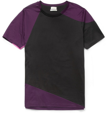 Paul Smith Panelled Cotton-Jersey T-Shirt