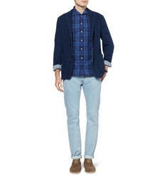 Officine Generale Slim-Fit Washed Selvedge Denim Jeans