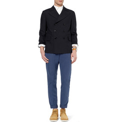 Officine Generale Slim-Fit Washed-Cotton Lightweight Trousers