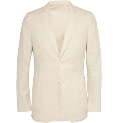 Officine Generale Slim-Fit Slub Cotton Blazer