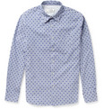 Officine Generale Slim-Fit Spot-Print Striped Cotton Shirt