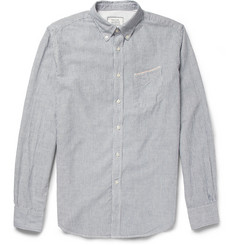 Officine Generale Striped Button-Down Cotton Oxford Shirt