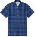 Officine Generale Plaid Short-Sleeved Cotton Shirt