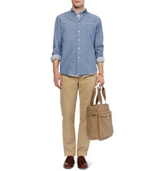 Officine Generale Button-Down Collar Chambray Shirt