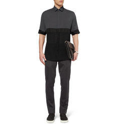Lanvin Panelled Short-Sleeved Shirt