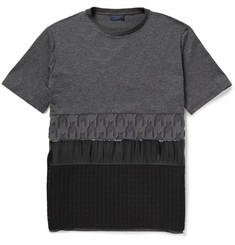 Lanvin Panelled Cotton and Silk-Blend T-Shirt