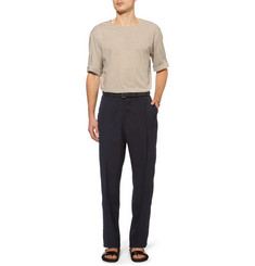 Lanvin Wide-Leg Lightweight Twill Trousers