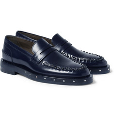 Lanvin Metal-Embellished Leather Penny Loafers