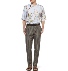Dolce & Gabbana Tapered Woven Linen and Cotton-Blend Trousers