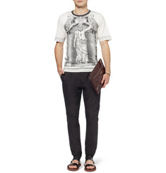 Dolce & Gabbana Tapered Pleated Cotton Trousers