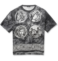 Dolce & Gabbana Oversized Printed Cotton and Linen-Blend T-Shirt